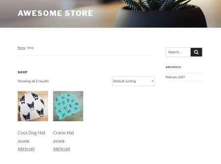 WooCommerce商店示例