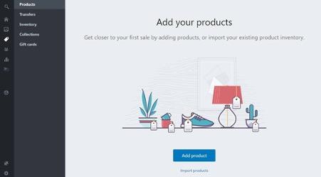 shopify产品添加