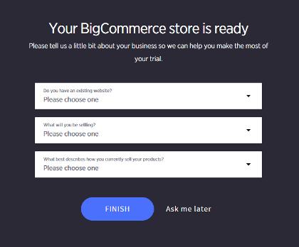 BigCommerce设置